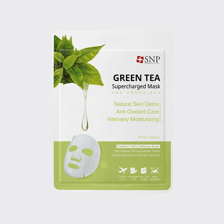 SNP Green Tea Supercharged Mask,K Beauty
