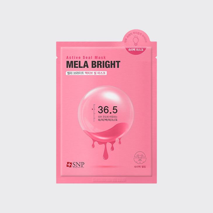 SNP Mela Bright Active Seal Mask,K Beauty