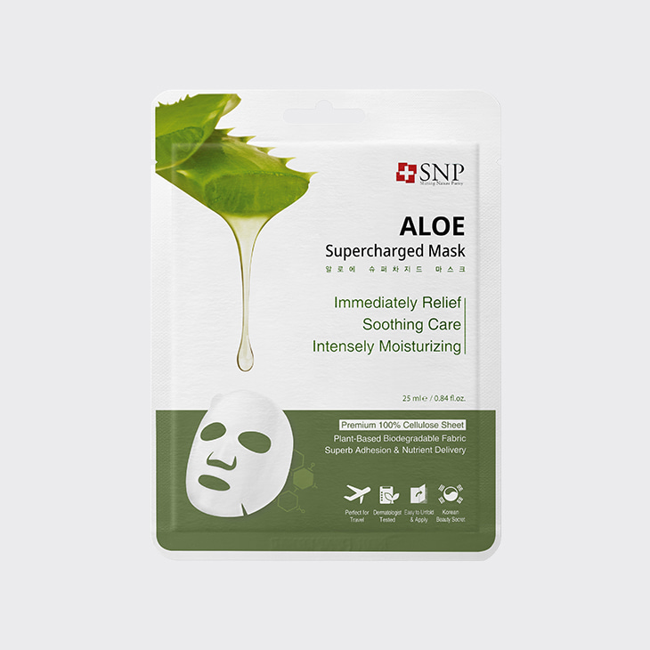SNP Aloe Supercharged Mask,K Beauty