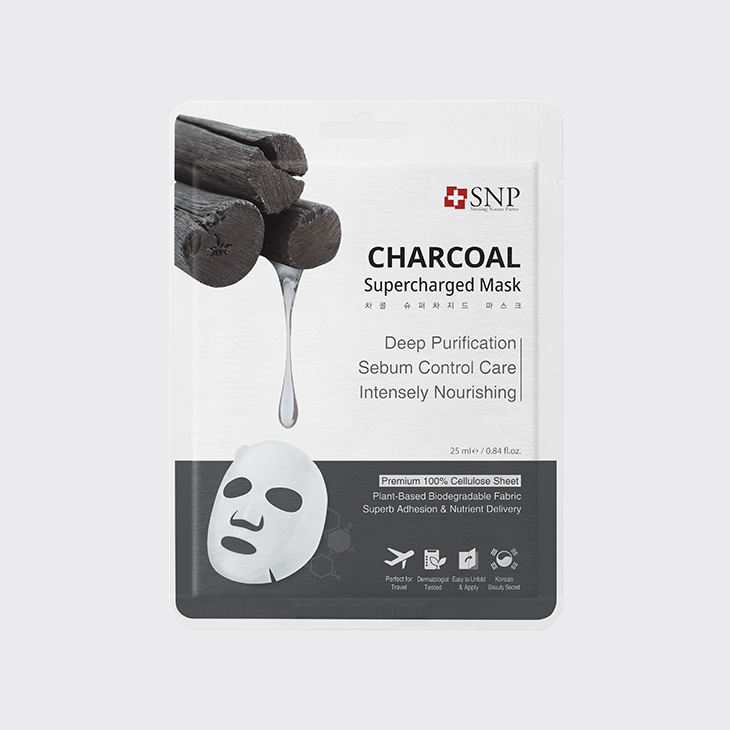 SNP Charcoal Supercharged Mask,K Beauty