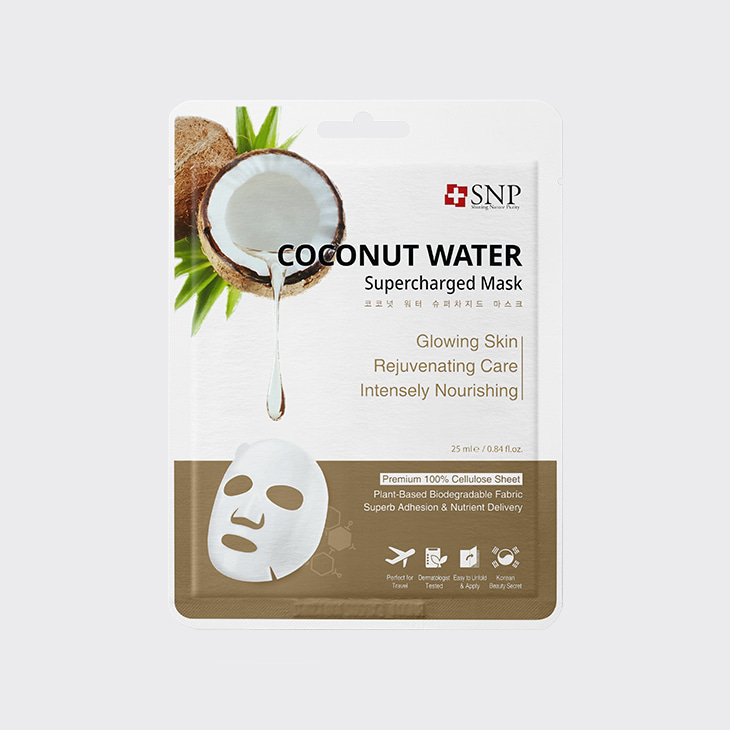 SNP Coconut Water Supercharged Mask,K Beauty